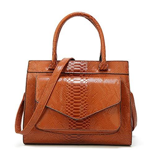 MQQXlady 's tasche snake-print handtasche,brown - Print-tasche