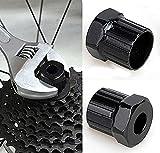 Malayas Extractor de Casette de Bici, Llave de Eje de Cadena de Bici, Herramientas para la Reparación de Bicicletas, compartible para Shimano/ISIS/SRAM/Sun Race/SunTour