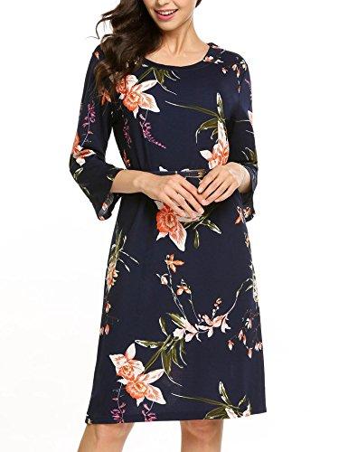 Zeagoo Damen Kleid Gr. X-Large, blau Junior Strapless Kleider