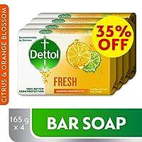 Dettol Fresh Anti-bacterial Bar Soap 165gm Pack of 4 @35% OFF