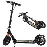 WeSkate Erwachsene Scooter mit Handbremse und duales Dämpfungssystem 200mm Räder Faltbar und Höhenverstellbar Cityroller Tretroller für Jugendliche und Kinder ab