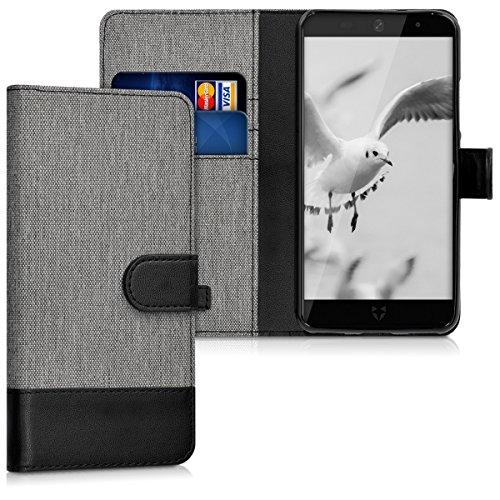 kwmobile Wileyfox Swift 2 Hülle - Kunstleder Wallet Case für Wileyfox Swift 2 mit Kartenfächern und Stand