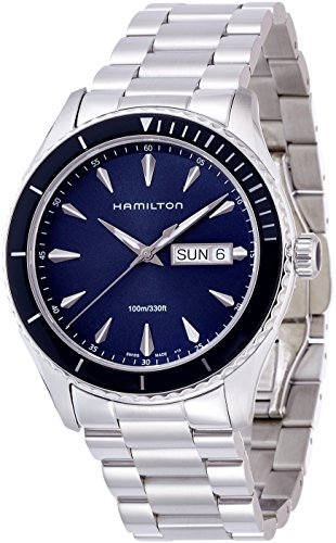 HAMILTON MEN'S 42MM STEEL BRACELET & CASE SWISS QUARTZ ANALOG WATCH H37551141