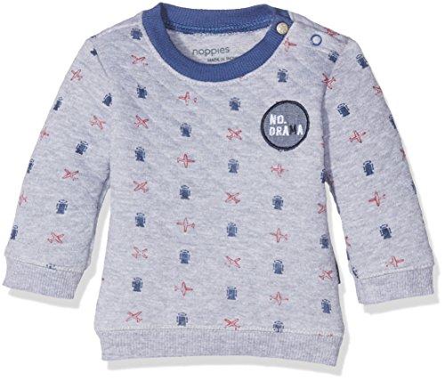 Noppies Baby-Jungen Sweatshirt B Sweater Galesburg, Grau (Light Grey Melange C245), 62