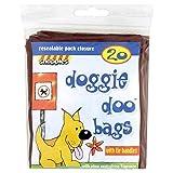 Snappies Tidy-Up Doggie Doo Bolsas con lazo Tiradores 20por paquete (Pack de 4)