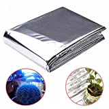 Generic 82x47 Inch Silver Plant Reflective Film Grow Light Accessories Greenhouse Reflectance Coating