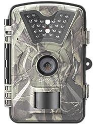 """Game Spurenkamera, 12MP 1080P HD Tierweltenkamera Niedriges Glühen sich Schwarze Umsehende Infrarotkameranachtvision bis zu 65ft mit 2,4 """"LCD FlÜssigkristallanzeigen schirm 24pcs 940nm IR LEDs und wasserdichte IP66 Jagdkamera Digitalkontrollenkamera von ECOOPRO"""