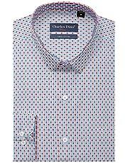 Charles Dino Slim Fit Blue 100% Cotton Men's Wear Formal Cotton Shirt (40)