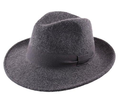 Classic Italy - Chapeau Fedora Pliable imperméable Feutre - 6 Coloris - Homme ou Femme Fedora