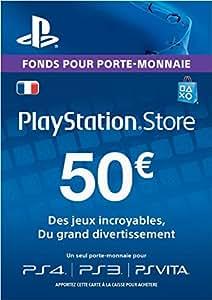 Carte Playstation Network 50 EUR [Code Jeu PSN PS4, PS3, PS Vita - Compte français]
