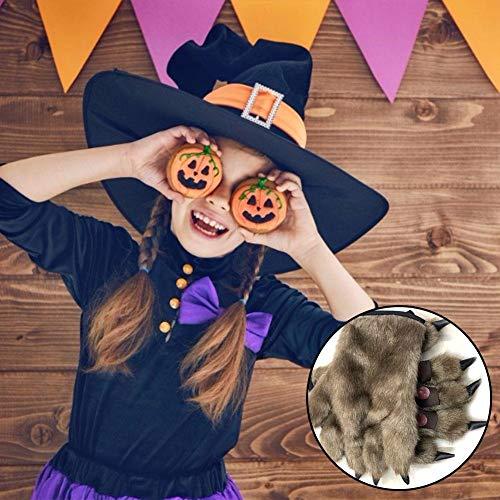 Cherishly Bear Paws Handschuhe für Halloween Werewolf Orang-Utan Handschuhe Monster Kostümzubehör Very - Bear Paw Handschuhe Kostüm