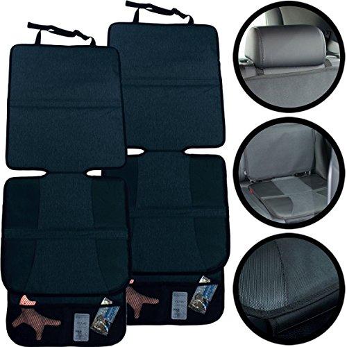 SET (2 Stück) Auto Sitzauflage/Unterlage für Kindersitz/Sitzerhöhung/Babyschale/KUNSTLEDER/ISOFIX geeignet
