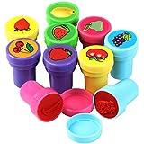 TRIXES Paquete de 10 Sellos Frutas de Plástico para Jugar sobre Papel Juguetes Artesanales