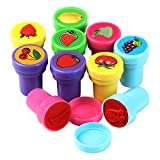 Trixes Set mit 10 Niedlichen Obst-Stempeln aus Kunststoff für Spiel Spass Handwerk und Bastelarbeiten