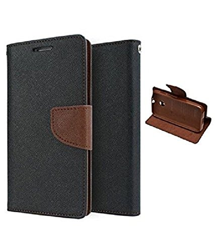 RJR Mercury Goospery Wallet Diary Style Flip Back Case Cover For Micromax Canvas HD A116 -Black&Brown  available at amazon for Rs.199