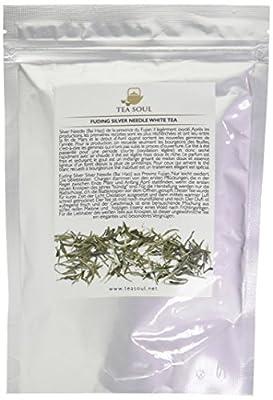 TEA SOUL Silver Needle Bai Hao Thé Blanc en Feuilles de la Province de Fujian 30 g - Lot de 2