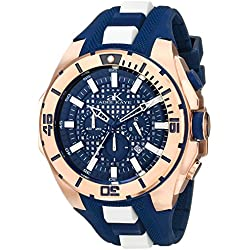 Adee Kaye Herren ak6367-m/BU Achsen Collection Analog Display Japanische Quarz blau Armbanduhr