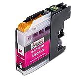 Premium Druckerpatronen Kompatibel für Brother LC-123 / LC123 / LC 123/125 / 127 XL Magenta Rot