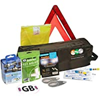 8 Piece European Travel Kit for Driving Abroad Quality Ultimate Safety Abroad European Travel Essentials storage bag & Emergency Roadside Breakdown Kit9