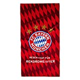FC Bayern München Strandtuch Rekord-Meister, Gratis Sticker München Forever, Bath Towel/Badetuch/toalla de Baño/Serviette de bain/Munich