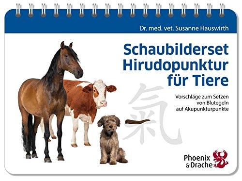 Schaubilderset Hirudopunktur für Tiere, Schweizer Ausgabe: Vorschläge zum Setzen von Blutegeln auf Akupunkturpunkte