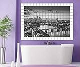Frankfurt Fliesenaufkleber 15 10 25 20 cm Fliesenbild schwarz weiß Brücke Skyline Fliesen Aufkleber Bad Küche 8A165, Bildformat:90cmx60cm;Fliesengröße:Fliese 20x10cm