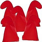 German Trendseller 4 x Zwergen Mütze Rot ┃ Gnom ┃ Wichtel ┃ Die 7 Zwerge ┃ Mit dieser Mützen wird der Zwerg zum Original ✔