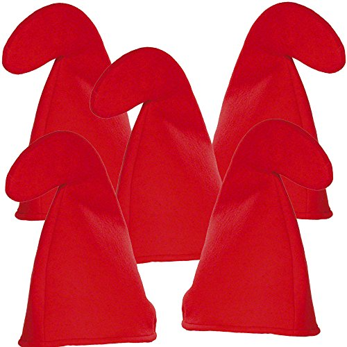 German-Trendseller ® - 4 x Zwergen Mütze Rot ┃ Gnom ┃ Wichtel ┃ Die 7 Zwerge ┃ Mit Dieser Mützen Wird der Zwerg zum Original ✔