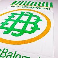 Real Betis Balompié - Toalla con gran logo del escudo del club - Blanca/verde