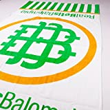Real Betis Balompié - Toalla con gran logo del escudo del club - Blanca/verde/dorada