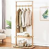 ZZHF yimaojia Mantel und Hut Rack Buche Einfache Stand Storage Coat Rack Zwei Farbe Optional Kleiderständer