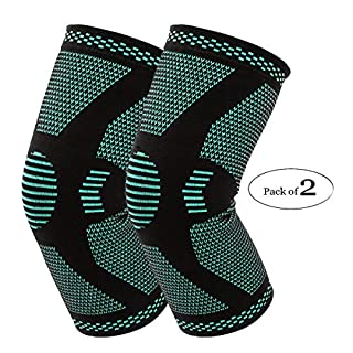 Compression Knee Sleeve Knee Brace Recovery Sleeve 1 Pair Men Women for ACL, MCL, Arthritis,Running, Fitness, Soccer, Basketball, Gym (Extra Large)