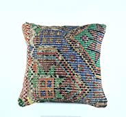 Kilim Cushion covers 40x40 cm Handmade Ethnic Turkish Kilim Pillow Cover Bohemian Cushion Covers Oushak Rug Cu