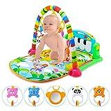 XASY Baby Spielmatte Babyspielzeug,Musikalische Spieldecke Baby, Baby-Klavier-erweckende Matte, Surreal 3-in-1-Spielmatte für Babys mit Baby-Klavier, Spielmöglichkeiten, Musik und Beleuchtung