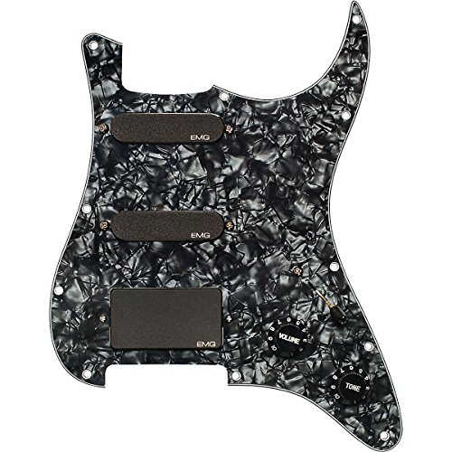 EMG SL20Steve Lukather Signature geladen Plektrumschutz-Set schwarz 1505.00W/Bonus RIS Plektrum (x1) 654330302459 (Single-coil-tonabnehmer Emg)