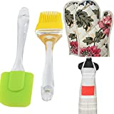#6: Ketsaal COMBO for PERFECT BAKING- Silicone Spatula And Pastry Brush Set, Ketsaal Microwave Oven Gloves & Ketsaal Multi-colored Kitchen Apron (pack of 3)