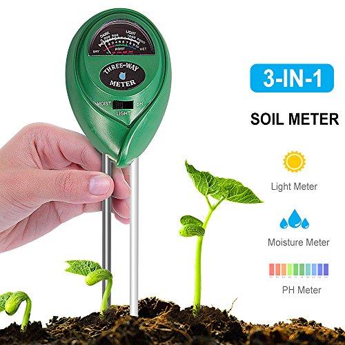 Feuchtigkeit Meter Analysatoren Gerade Boden Hygrometer 3 In 1 Ph Tester Boden Wasser Feuchtigkeit Licht Test Meter Für Garten Pflanze Blume