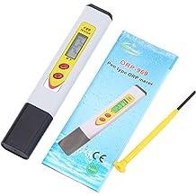 muttiy CPTCAM tragbar Display mit Hintergrundbeleuchtung, Stiftform ORP Temp Meter Trinkwasser Qualität Analyse Gerät PH Meter Oxidation Reduzierung Analysegerät (orp-969)