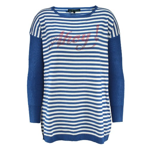 Sugarhill Boutique Strickpullover AHOY Hunch SWEATER blue XS