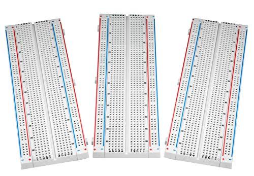Basetta Piastra Sperimentale Breadboard - ALLEU (3 pezzi) 830 punti Breadboard per Arduino & Raspberry pi