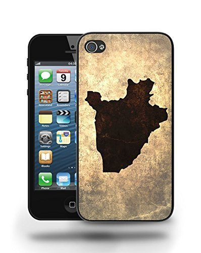 Burundi National Vintage Country Landscape Atlas Map Phone Case Cover Designs for iPhone 5
