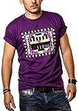 Big Bang Theory T-Shirt TESTBILD Herren/Männer lila Größe XXL