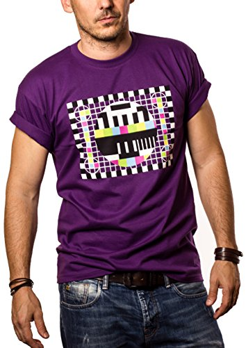 Maglietta Sheldon Testscreen T-shirt Big Bang Theory nerd porpora M