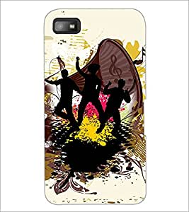 PrintDhaba Band of Boys D-2506 Back Case Cover for BLACKBERRY Z10 (Multi-Coloured)