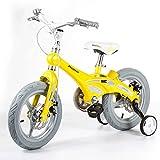 ZXUE Bicyclettes pour enfants Mâle et Femelle Bébé Bébé Chariot 12/14/16 Pouce Vélo Vélo de Montagne Enfant Bicyclette (Couleur : Le jaune, taille : 12 pouces)