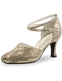 Werner Kern Femmes Chaussures de Danse Ines - Cuir Noir - 3,5 cm Bloc [UK 4,5]