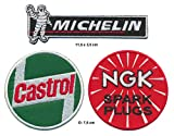 Castrol Michelin NGK Patches Toppa 3 Pezzi Auto Motorsport Rennsport Racing