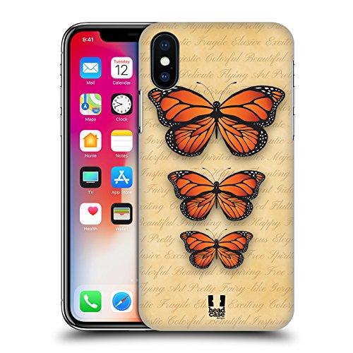 Head Case Designs Giornale Stampe Farfalle Monarca Cover Retro Rigida per Apple iPhone X Giornale