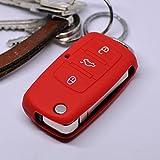 Key Soft Case Cover Housse de Protection en Silicone pour Les clés de Voiture VW...