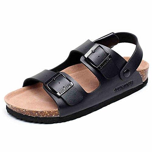 HAIZHEN Pantofole della casa Sandali Da Uomo Scarpe Da Corsa Maschile Estiva Scarpe Da Spiaggia Delle Coppie (nero / Bianco) Per le donne e gli uomini ( Colore : Nero , dimensioni : EU41/UK7.5-8/CN42  Nero